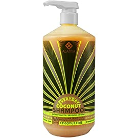Alaffia - Everyday Coconut Shampoo, Dry to Extra Dry Hair, Gentle Support to Cleanse, Hydrate, and Stimulate Hair with African Ginger, Coconut Oil, and Shea Butter, Fair Trade, Coconut Lime, 32 Ounces 7 100% FAIR TRADE: Feel good about how you are getting your products with 100% Certified Fair Trade Ingredients. HYDRATING AND INVIGORATING: EveryDay Coconut Ultra Hydrating Shampoo is prepared with Certified Fair Trade virgin coconut oil, ultra hydrating shea butter, invigorating lime extract, and African ginger CLEANSING WITHOUT STRIPPING: For deep cleaning and gentle stimulation.