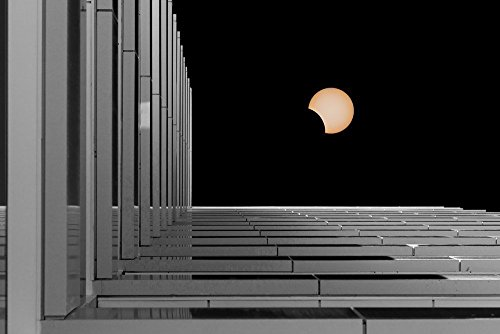 150319-30 Solar Eclipse. 8x10 Matted Fine Art Photograph, Urban Landscape. Best for Home and Office Art Decor. by Pacography