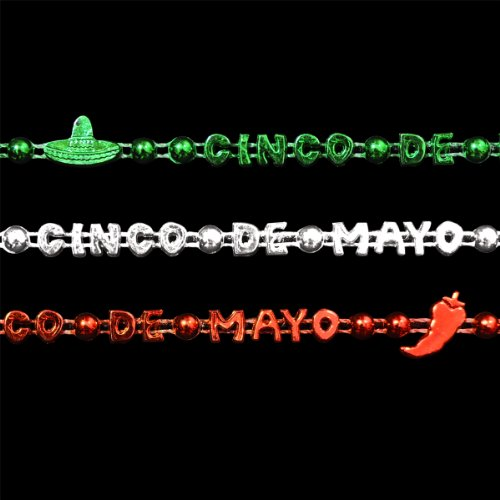 Set of 12 Cinco de Mayo Party Bead Necklaces