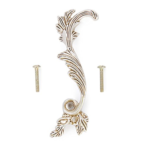 Flower Pull Antique (1pc 132mm Antique Silver Flower Design Cabinet Left Door Handle Drawer Pull Knob)