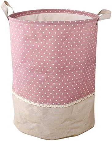 Cesto de ropa Plegable a prueba de agua Tela de algodón Contenedor ...