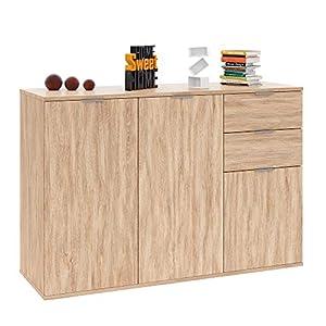 Deuba Sideboard Cabinet Cupboard Chest Of Drawers Alba Storage Unit with Doors Sideboard for Bedroom Kitchen Bathroom…