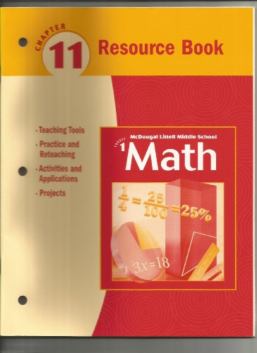 McDougal Littell Algebra 1: Resource Book: Chapter 11