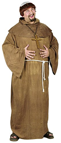 UHC Men's Medieval Monk Outfit Religious Theme Adult Plus Size Costume, (Plus Size Monk Adult Costumes)