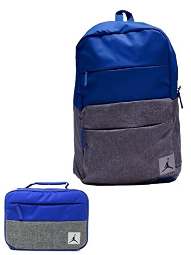 Nike Jordan Jumpman Backpack & Matching Insulated Lunch Tote (Hyper Royal) by JUMPMAN