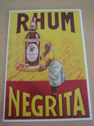 Ron Negrita-Placa de 10 x 15 cm, diseño de postal: Amazon.es ...