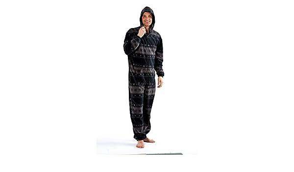 Octave - Hombre gris caliente de lana mono/pijama/jumpsuit [talla m/l, gris]: Amazon.es: Ropa y accesorios