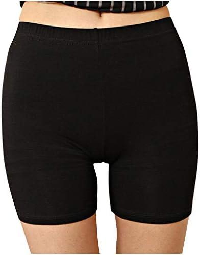 Feifish Legging Court Femme Shorts de sécurité Long Culottes