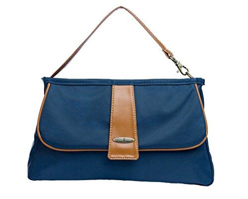Vilah Bloom Cottage Clutch Diaper Bag Handbag, Nantucket Navy