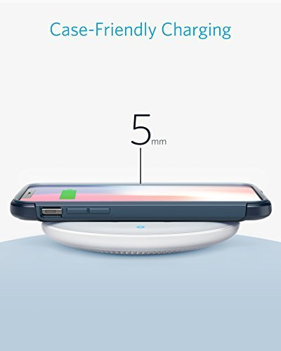 Anker PowerWave 7.5 Fast Wireless Charging Pad with Internal Cooling Fan, Qi-Certified, 7.5W Charges iPhone X / 8/8 Plus, 10W Charges Galaxy S9/S9+/S8/S8+/S7/Note 8, LG G7 (with Quick Charge Adapter) by Anker (Image #4)