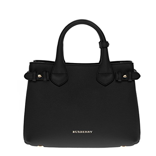 Burberry Women's Small Banner in and House Check Black Beige