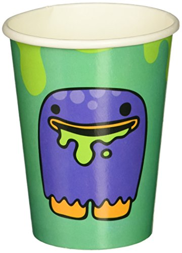 Ginger Ray Monster Party Paper Cups - Decoration Tableware - Monster Madness (pack of 8)