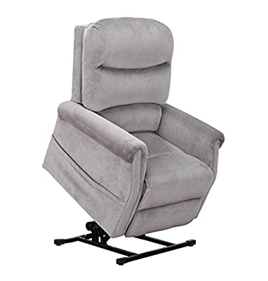 Divano Roma Furniture - Classic Plush Power Lift Recliner Living Room Chair