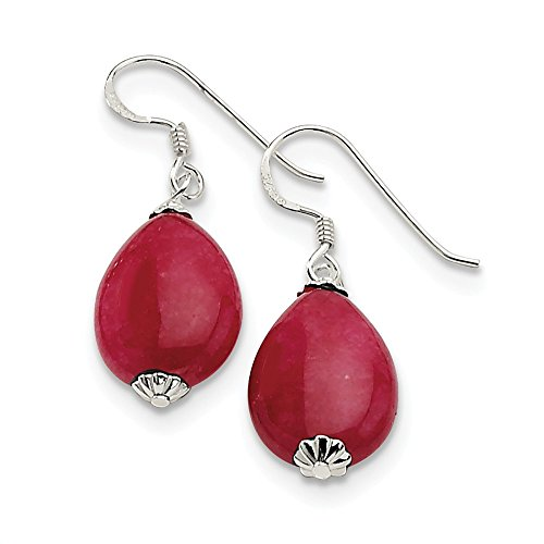925 Sterling Silver Red Agate Earrings ()