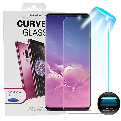 HYAIZLZ Liquid Glass Screen Protector for Galaxy S10 Plus 3D Curved Edge 9H Premium Tempered Glass [Bubble Free] Adhesive Installation Tools Screen Film for Samsung Galaxy S10 Plus 6.4,2 Pack