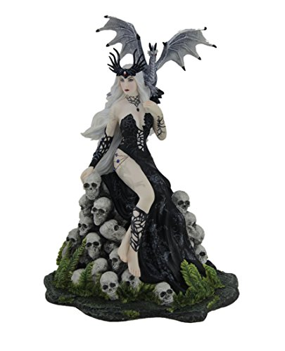 Veronese Resin Statues Nene Thomas Mad Queen Hand Painted Fantasy Statue 7 X 9.75 X 6 Inches Gray
