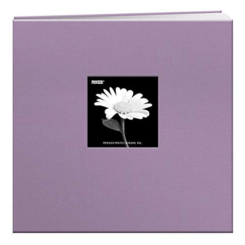 Pioneer 12-Inch by 12-Inch Book Cloth Cover Postbound Album with Window, Misty Lilac from Pioneer Photo Albums