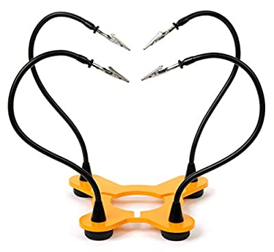 QuadHands Base - Helping Hands Soldering Tool - Sturdy Steel Base with Flexible Arms for Your Panavise