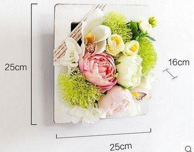 JY$ZB European creative simulation plant wall American restaurant shop coffee shop floral flower , neon medium