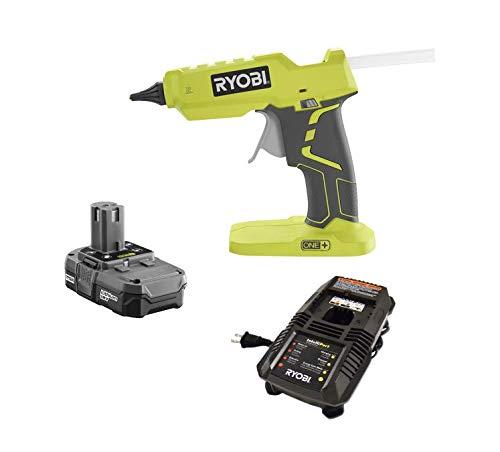 Ryobi One + 18 Volt Lithium Ion Hot Glue Gun P305 + Battery P102 + Charger P118 (Bulk Packaged) (Renewed) by Ryobi