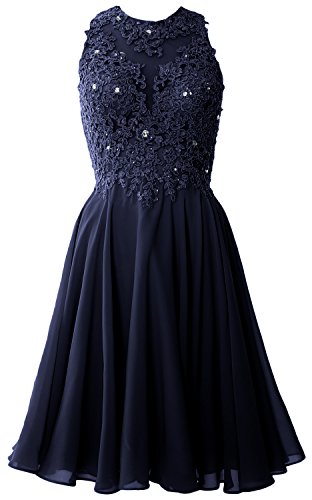 Cocktail Dress Women High Dunkelmarine Homecoming Neck Short Lace MACloth Gown Formal Prom qXpIHxwn