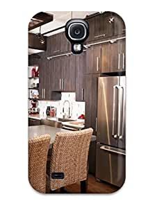 Hot Design Premium XkkdEse18474GXNtJ Tpu Case Cover Galaxy S4 Protection Case(eclectic Kitchen With Island Seating)