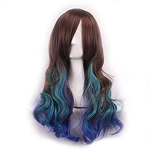 Wig,Baomabao Women Lady Long Hair Wig Curly Wavy Synthetic Anime Cosplay Party (J)