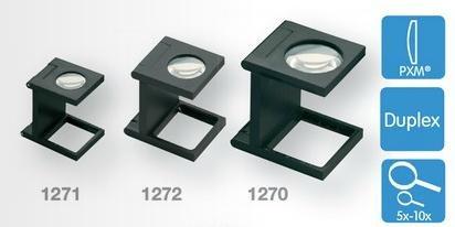 Eschenbach No. 1271 Plastic Precision Stand Magnifier Linen Testers 10x Magnification 40D dpt, Lens 12 mm Diamenter