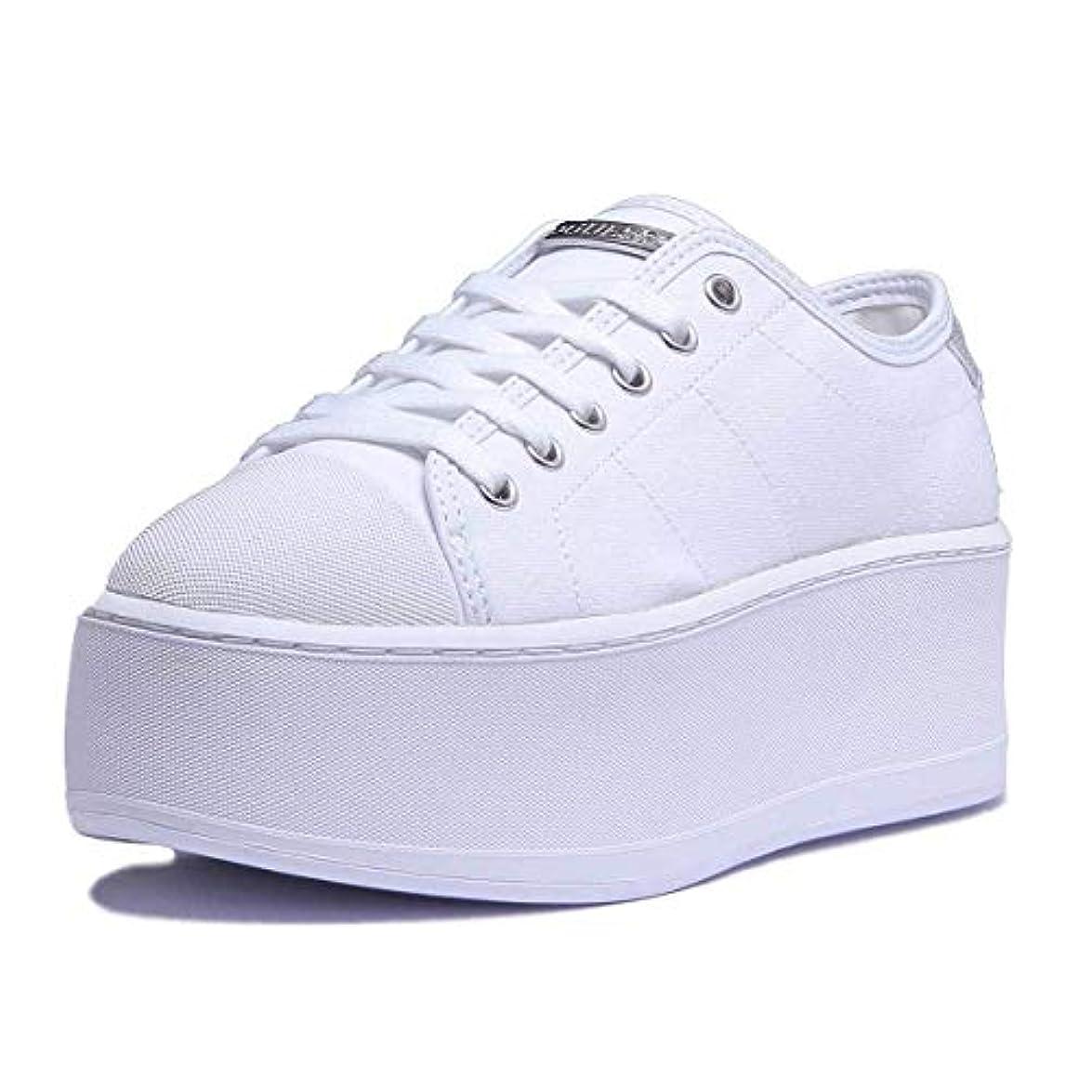 Bianco Primavera Estate Zeppa Modello Donna Fab12 Tessuto Guess In White Media Collezione Colore Flbmr2 Con Nuova 2018 Articolo Sneaker