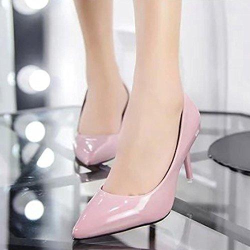 Travail Chaussures de Élégant Talons Shallow à Hauts Femmes Rose Dames de Nude Bureau GreatestPAK Mouth Fashion xXnYqPwOz