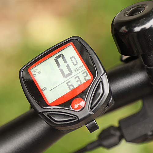1pc speedometer bicycle computer with LCD digital display waterproof bicycle odometer speedometer riding stopwatch…