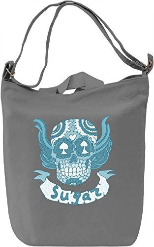 Sugar skull Borsa Giornaliera Canvas Canvas Day Bag  100% Premium Cotton Canvas  DTG Printing 