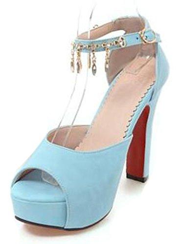 Easemax Womens Mignonne Robe Peep Toe Plate-forme Chunky Talons Hauts  Sandales Avec Bride À. chaussures ... b82757fc620
