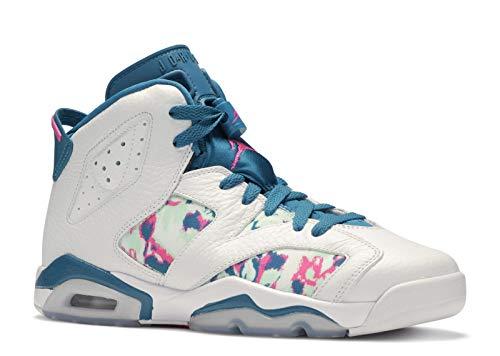 Jordan Air 6 Retro Big Kids Shoes White/Laser Fuchsia 543390-153 (6 M US) (6 Women Jordan Retro)