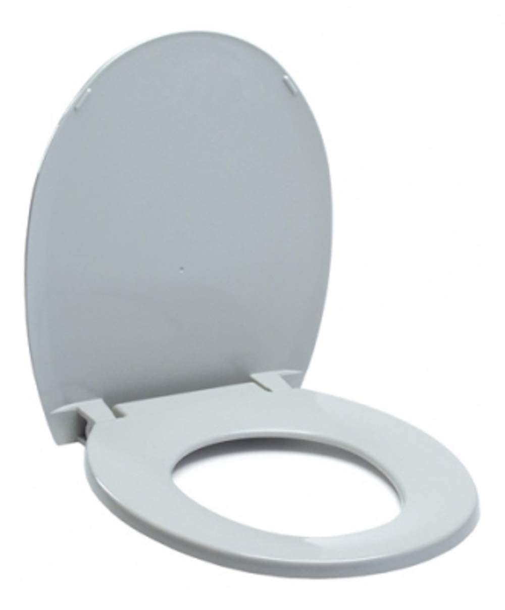 Pivit Portable Toilet Replacement Seat and Lid for Adult 3-in-1 Bedside Commodes | Sturdy Odor Resistant Plastic Potty Chair Seats Snaps-On Easily | Universal Design Fits Most Handicap Raised Seats