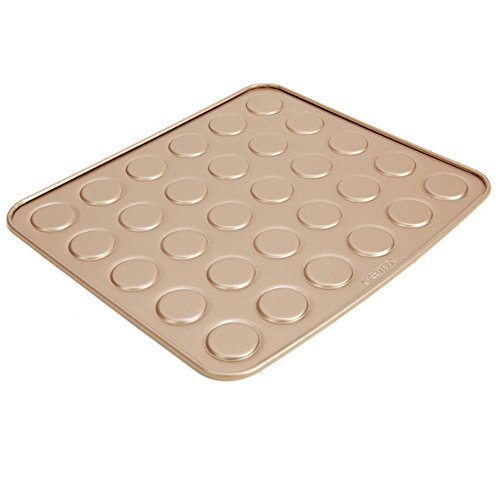 30 Cavity Carbon Steel Whoopie Pie Pan, Non Stick Macaron Baking Sheet, 11 inch x 13 inch