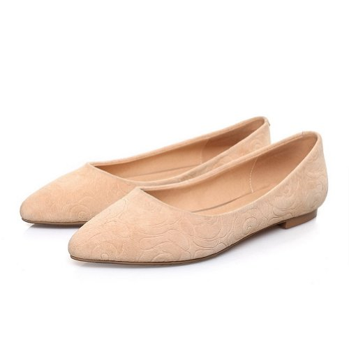 Frosted Fiber B Closed Womens Micro Flats US WeiPoot Toe Solid 8 Po2015ted Sheepsk2015 Apricot M IS0Cq
