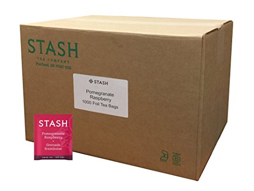 Stash Tea Pomegranate Raspberry Green Tea With Matcha 1000 Tea Bags in Foil Individual Green Tea Bags for Use in Teapots Mugs or Teacups, Brew Hot Tea or Iced ()