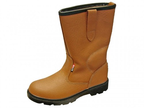Texas Lined Tan Rigger Boots UK 8 Euro 42 ()