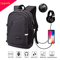 ERAY Business Laptop Backpack College Backpack Computer Backpacks for Women Men, Casual Hiking Travel Daypack