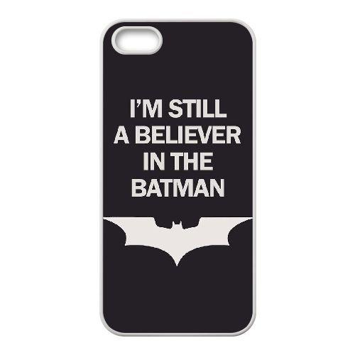 Batman coque iPhone 5 5S Housse Blanc téléphone portable couverture de cas coque EBDOBCKCO09698