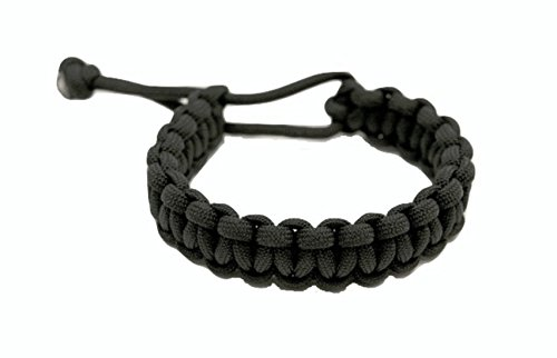 Mad Max Adjustable Paracord Survival Bracelet Tom Hardy Fury Road Black (Small 6 inch)