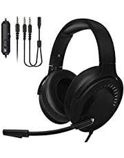 Gaming Headset,PS4 Headphones Xbox One 3.5mm Gamer Headphone Noise Cancelling Headsets Bass Stereo Surround Sound with Mic Over Ear Volume Control for Laptop,Mac,PC,Nintendo Switch,PS4,Xbox