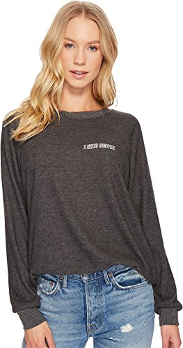 Cheap Project Social T Womens I Need Coffee Embroidered Sweatshirt