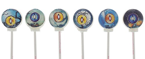 [Vintage Confections 6 Hand Made Gourmet 3D Cat Eyes Candy Lollipops - 6 Assorted flavors - Cat Lover Gifts, Party, Decorations, Novelty and Stocking Stuffers - 6] (Couples Scary Costumes)