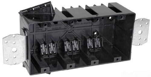Carlon 460-LB Outlet Box, New Work, 4 Gang, 3-3/4-Inch Length by 7-9/16-Inch Width by 2-3/4-Inch Depth, Black by Thomas & Betts (Image #1)