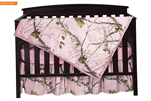 Mikash New Soft Real Tree AP Camo 3-Piece Crib Sheet Set, Pink | Style 84599034