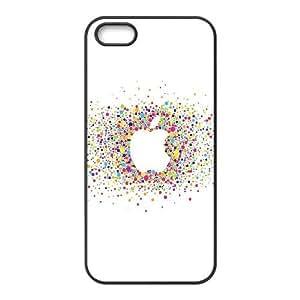 iPhone 4 4s Cell Phone Case Black al57 logo art apple rainbow minimal SUX_919766