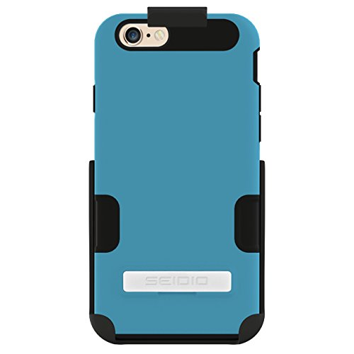 Seidio DILEX Pro Case with Metal Kickstand and Holster Combo for use with Apple iPhone 6 4.7