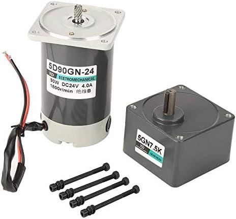 SSY-YU 削減ギヤードモータ、DC 24V 90W 10-1000rpm CW/CCWインダストリアル機器ホームアプリケーションのためのボルトと変動金利永久磁石ギアモーター(7.5K) 電動工具用